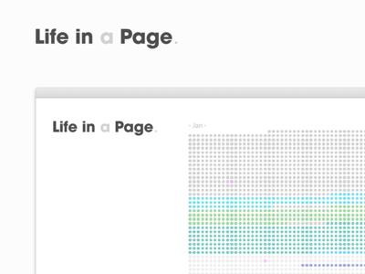 Life in a page web app calendar