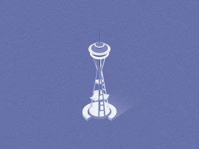 Isometric Space Needle building space needle seattle isometric