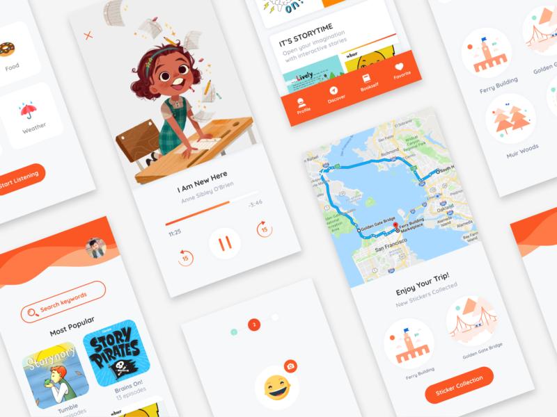 Interactive Audio App for Kids audio app kids app children mobile app mobile