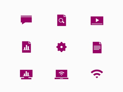 Digital/Object Icon Set