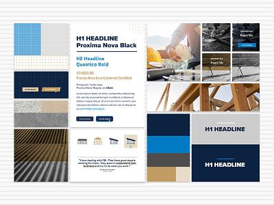 Style Tiles: Construction Website texture blue agriculture construction style tiles style tile