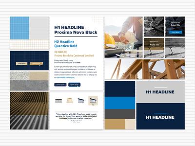 Style Tiles: Construction Website