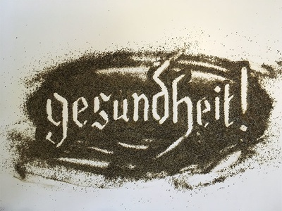 Gesundheit! Lettering