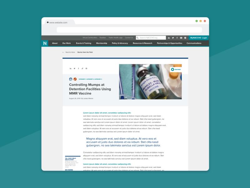 Community Blog Article Design