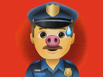 ACAB 2020 procreate illustration procreate app fuck the police police character design illustration design illustrator emoji procreate