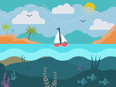 Sail Away with Me motion graphics animation motion graphic motion design motiongraphics animated gif illustration design gif animation after effects illustrator