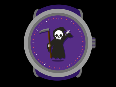 Tick Tock Motherf*cker illustrator character design animated gif gif animation after effects illustration