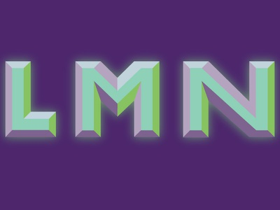 """""""L, M, N"""" typography type font 36daysoftype"""
