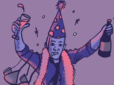 Drunk Boss party christmas illustration boss drunk