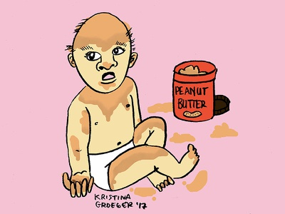 May Peanut Butter Baby Never Die peanut butter baby editorial illustration