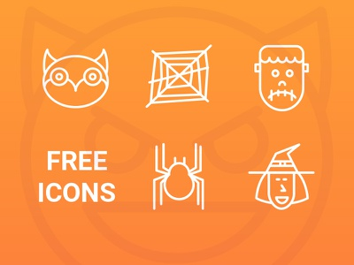 35 Scary Icons icons free flat 100 ai eps pack freebies line scary