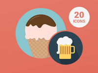 Free 20 Food & Drink Icons