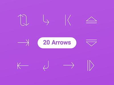 20 Free Arrow Icons icons free flat freebie freebies icons set arrows 100 ai eps line arrow