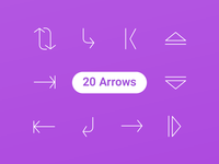 20 Free Arrow Icons