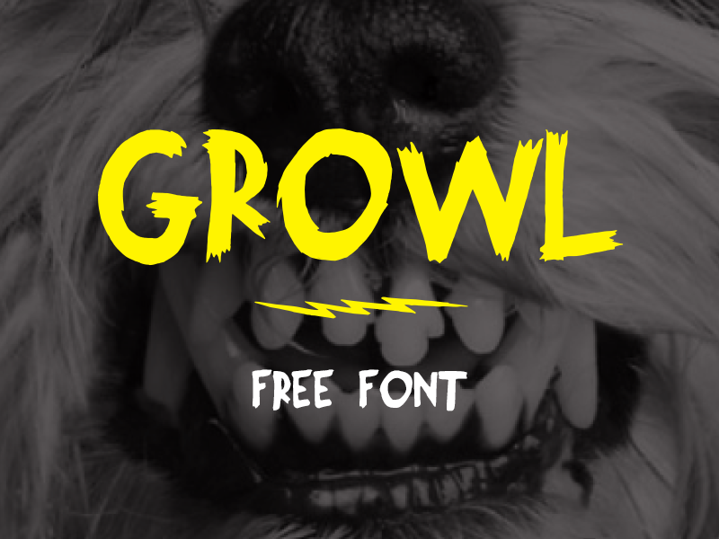 Growl Free Font free font web font freebie