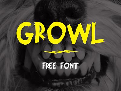 Growl Free Font free font web font freebie