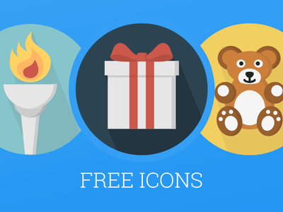 12 Free Objects Icons icons air plane gift gas lamp chair mirror teddy bear vector