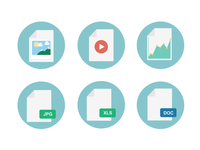 Free File Types Icons file icons freebies doc xls microsoft zip envelope charts