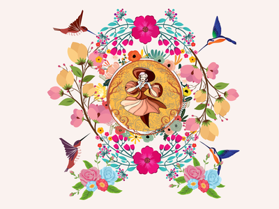 Memories of Spring illustrator logo ux graphic design style nature illustration beauty design art