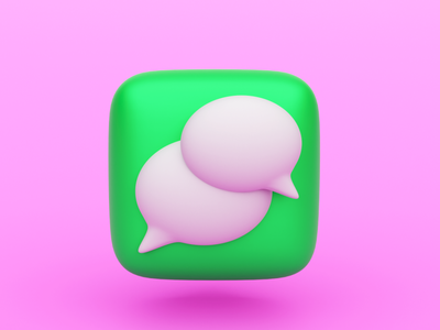 Messages blender 3d modeling 3d icon design ui