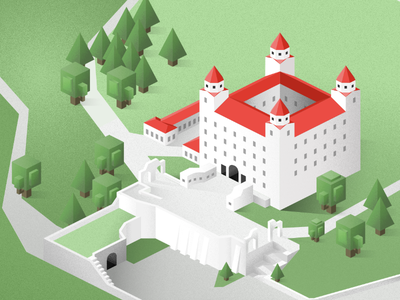 Castle grid isometric designer affinity illustration castle