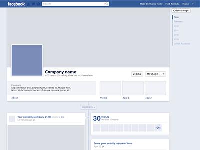 Facebook Timeline template freebie  facebook timeline freebie ui