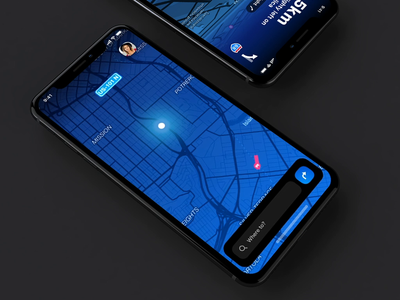 dashboard concept interface animation vector illustration menu iphone app dark iphone ui app