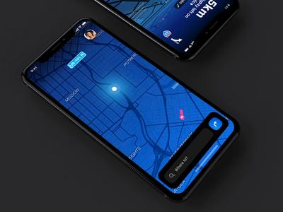 dashboard concept interface animation vector illustration menu iphone app dark iphone ui app