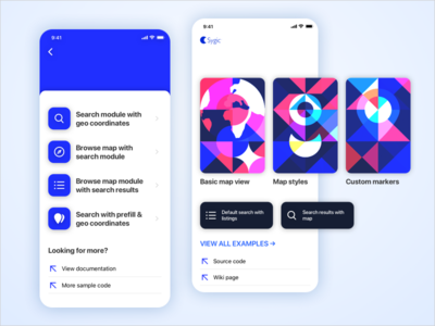 Sygic Sdk Sample App branding ux logo menu interface blue iphone app iphone ui app