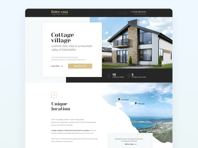 Landing page for Dolce Casa uiux ui  ux architecture village ux ui web website web design landingpage landing gladkovcompany