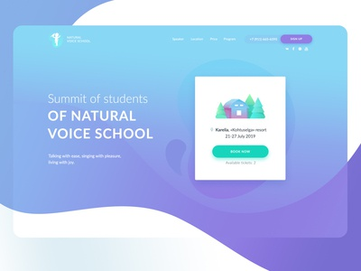 Landing page for Summit of students of Natural Voice School