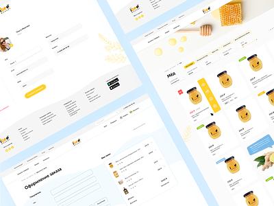 Online Store — iBee russia ecommerce online shop shop store honeybee bee sweety sweet honey ux uiux web design website web