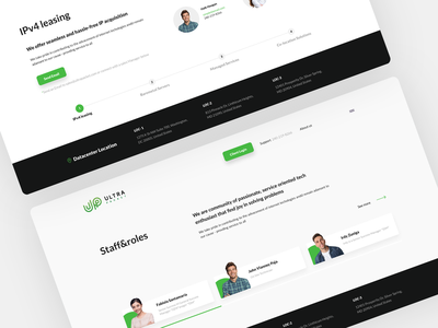 Website Design Concept — Ultra Packet design landing ui ux uiux support ip lease services servers color green web design website web