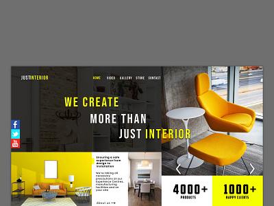 Interior web template website design social network website design and development social media design social media marketing graphic design digital marketing agency digital marketing creative design creativeartadda