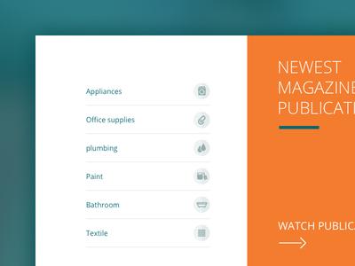 Popular Categories ecommerce shop navigation ui ux web user interface e-shop e-commerce web design