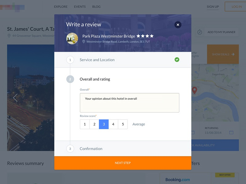 Write A Review Modal Window By Drasius M On Dribbble