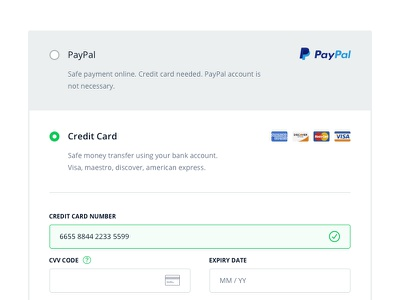 Checkout form, payment details style guide checkout payment ui ux ecommerce web shop order user interface credict card guide