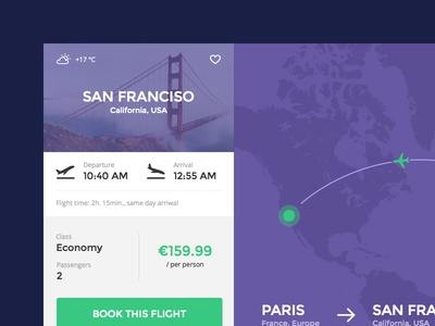 Flight UI freebie .sketch