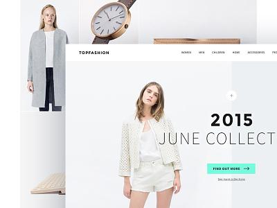 Fashion shop theme landing page user interface fashion shop store minimal clean ux ui concept ecommerce