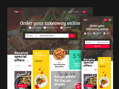 Takeaway food user interface search store reservation food restaurant clean delivery shop ux ui ecommerce