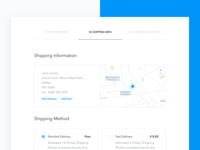 Checkout second step UI ux ui sketch eshop payment order freebie form map checkout cart steps