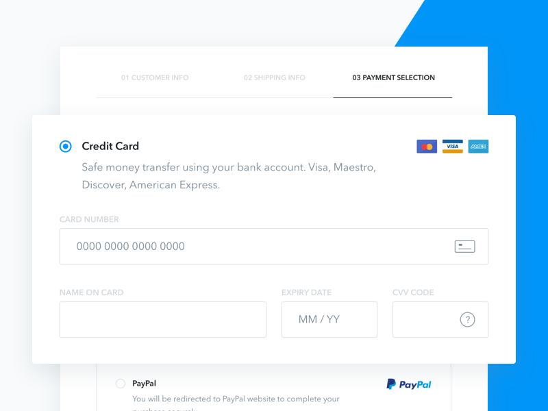 Checkout third step UI steps cart checkout credit card form freebie order payment eshop sketch ui ux