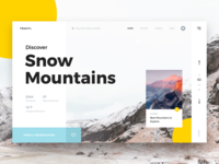 Travy landing minimal design ui ux layout frontpage top header web minimalistic color