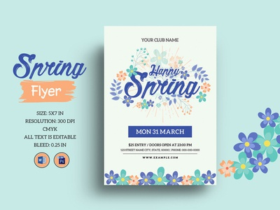 Spring Festival Flyer Template poster celebration spring poster ms word photoshop template invitation flyer party invitation party flyer spring party festival spring flyer spring festival