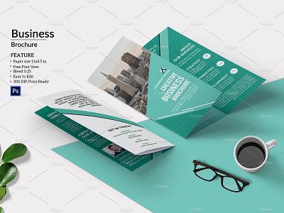 Trifold Business Brochure creative proposal professional profile multipurpose minimal photoshop template company brochure trifold brochure corporate brochure trifold business brochure
