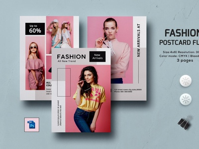Multipurpose Postcard Flyer Template fashion flyer photoshop template shop sale postcard advertising fashion postcard sale offer fashion marketing marketing blog board social media multipurpose postcard flyer multipurpose postcard