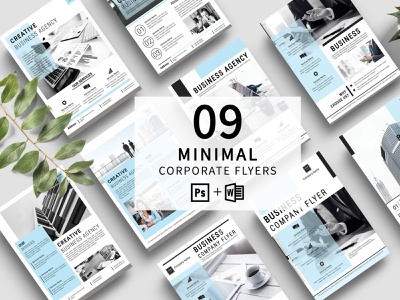 Minimal Business Flyer Template flyer bundle ms word photoshop template modern creative clean advertising multipurpose minimal company flyer corporate flyer minimal business flyer