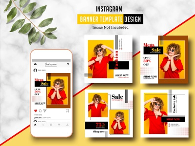 Instagram Banner Template promotional banner social media board photoshop template advertising sale offer fashion marketing marketing template website blog board social media instagram ad instagram banner