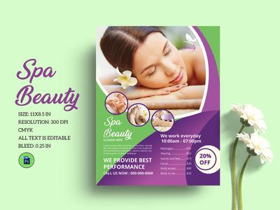 Spa & Beauty Care Flyer
