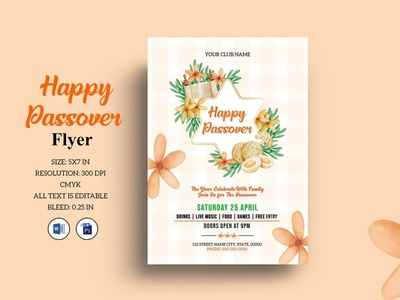 Printable Passover Flyer Template holiday invitation celebration flyer ms word photoshop template invitation flyer passover invitation party flyer passover sedar passover passover flyer